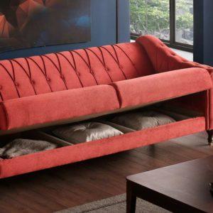 3er Sofa mit Stauraum